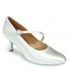 Ics roundtoe s/strap - white satin